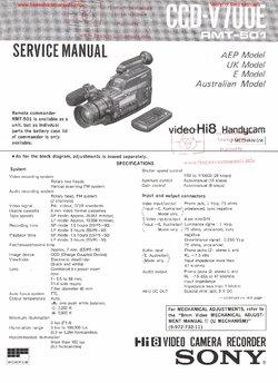 Sony CCD-V700E Free service manual pdf Download