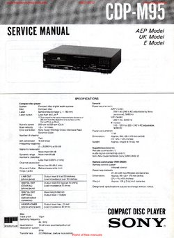 Sony CDP-M95 Free service manual pdf Download