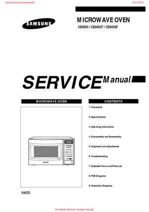 Samsung CE945G CE945GT CE945GF Free service manual pdf