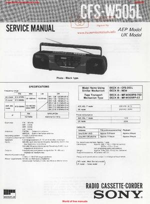 Sony CFS-W505L Free service manual pdf Download