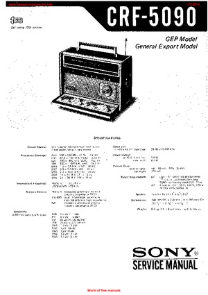 Sony CRF-5090 Free service manual pdf Download
