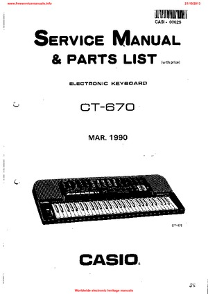 Casio CT-670 240CR Free service manual pdf Download