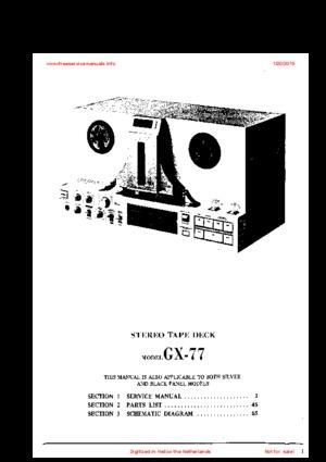 AKAI GX-77 Service Manual PDF Free Download
