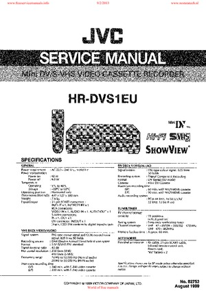 JVC HR-DVS1EU Free service manual pdf Download