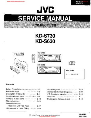 JVC KD-S730 KD-S630 Free service manual pdf Download
