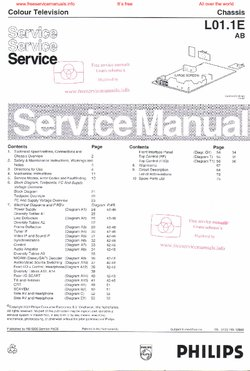 Philips 25PT4457 L01.1E Free service manual pdf Download