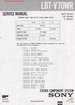 Sony LBT-V70WR Free service manual pdf Download