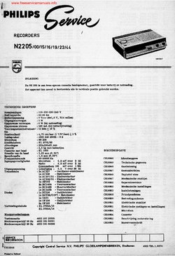 Philips N2205 Free service manual pdf Download