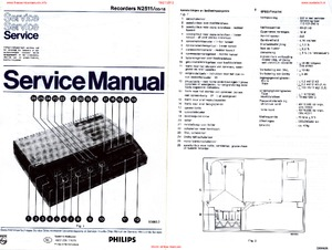 Philips N2511 CASSETTE-RECORDER Service Manual PDF Free