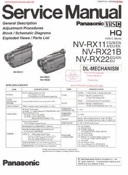 Panasonic NV-RX11 NV-RX21 NV-RX22 Free service manual pdf