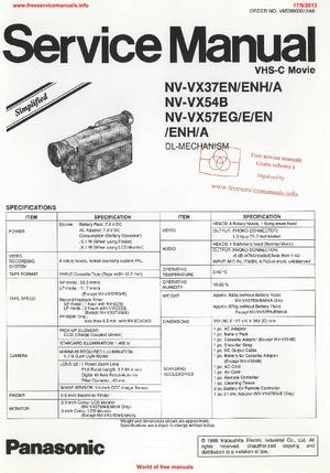 Panasonic NV-VX37 NV-VX54 NV-VX57 Free service manual pdf