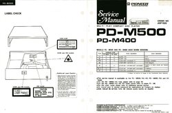 Pioneer PD-M500 PD-M400 Service Manual PDF Free Download