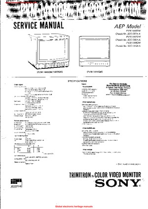 Sony PVM-1440QM PVM-1442QM PVM-1444QM Free service manual