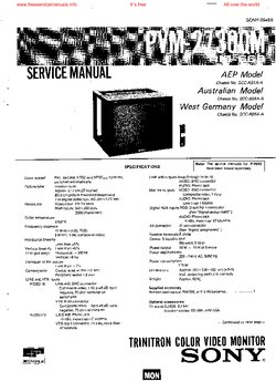 Sony PVM-2730QM Free service manual pdf Download