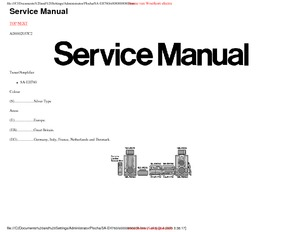 Technics SA-EH760 Service Manual PDF Free Download