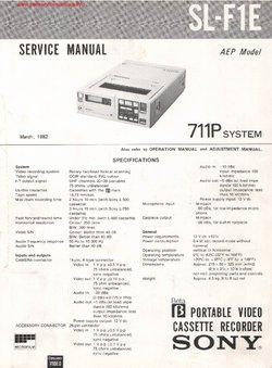 Sony SL-F1E Free service manual pdf Download
