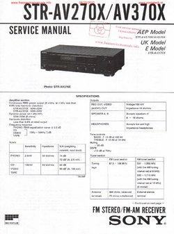 Sony STR-AV270X STR-AV370X Free service manual pdf Download