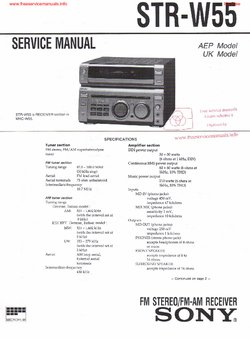 Sony STR-W55 Free service manual pdf Download