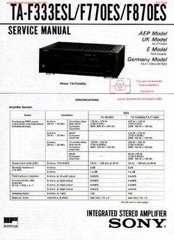 Sony TA-F333ESL TA-F770ES TA-F870ES Free service manual