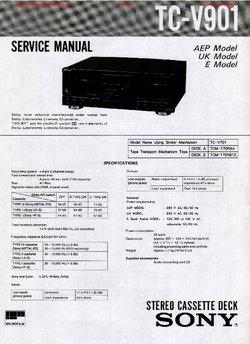 Sony TC-V901 Free service manual pdf Download