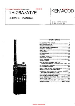 Kenwood TH-26A TH-26AT TH-26E Free service manual pdf Download