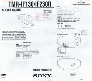 Sony TMR-IF130 TMR-IF230R Free service manual pdf Download