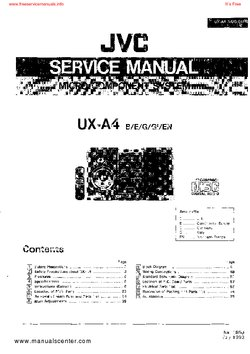 JVC UX-A4 Free service manual pdf Download