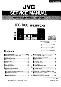 JVC UX-D66 Free service manual pdf Download