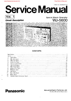 Panasonic WJ-5600 Free service manual pdf Download