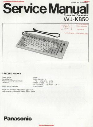 Panasonic WJ-KB50 Free service manual pdf Download