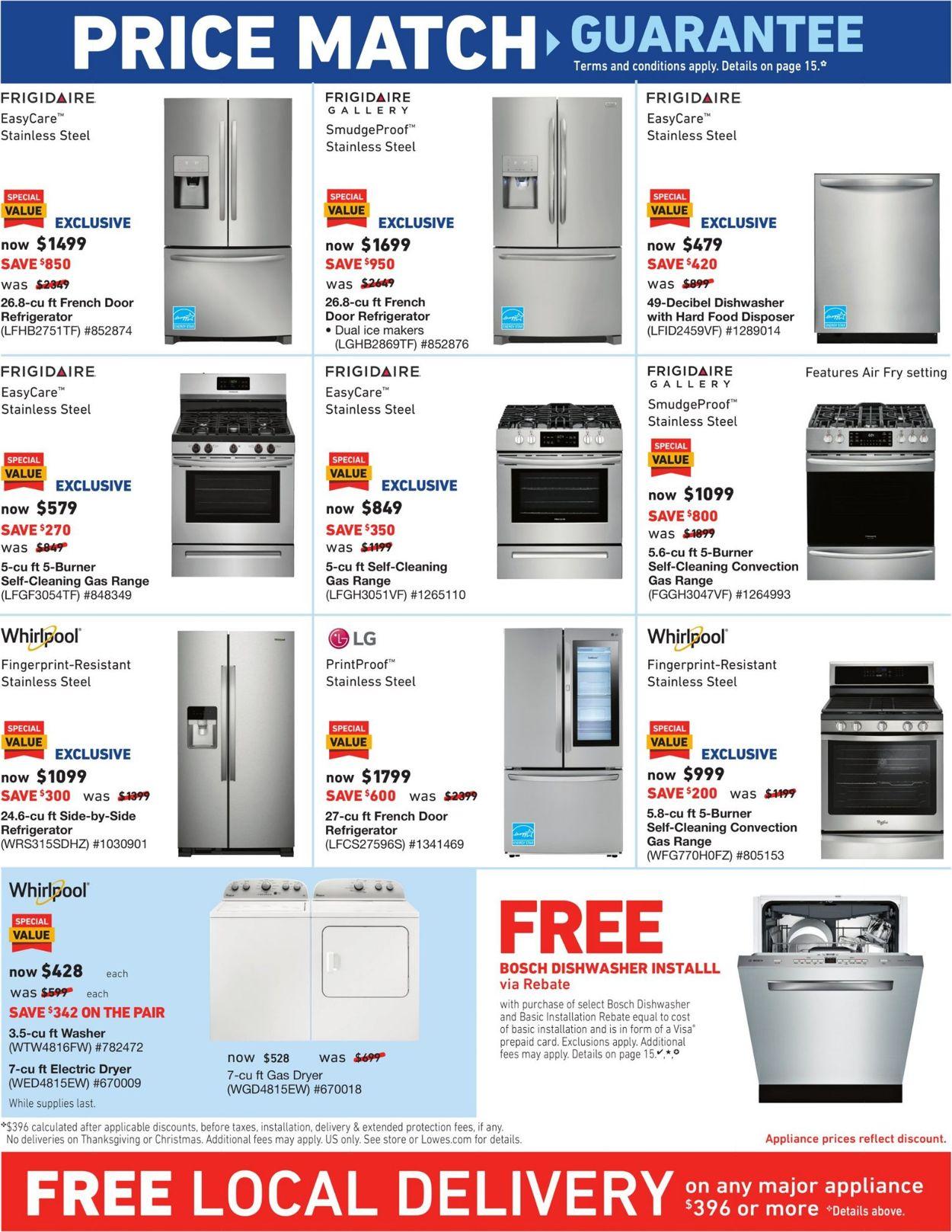 Bosch Dishwasher Free Installation : bosch, dishwasher, installation, Lowe's, Current, Weekly, 10/10, 10/16/2019, Frequent-ads.com