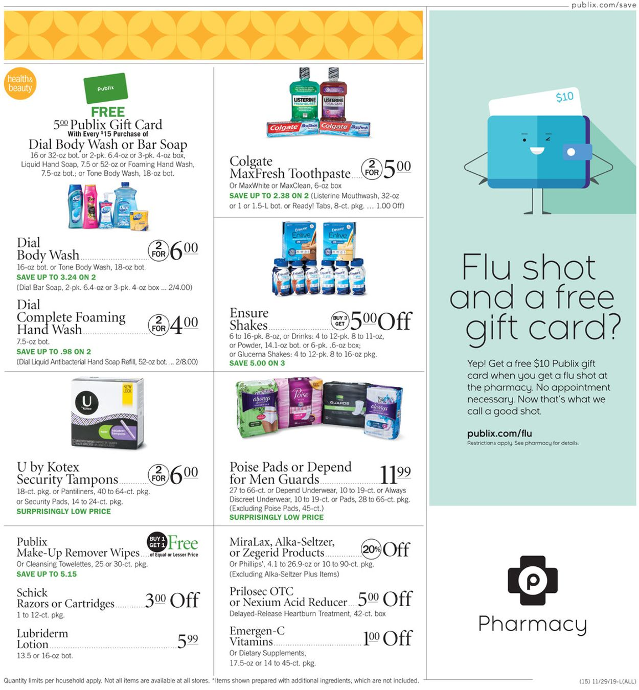 Publix Current weekly ad 11/29 - 12/04/2019 [15 ...
