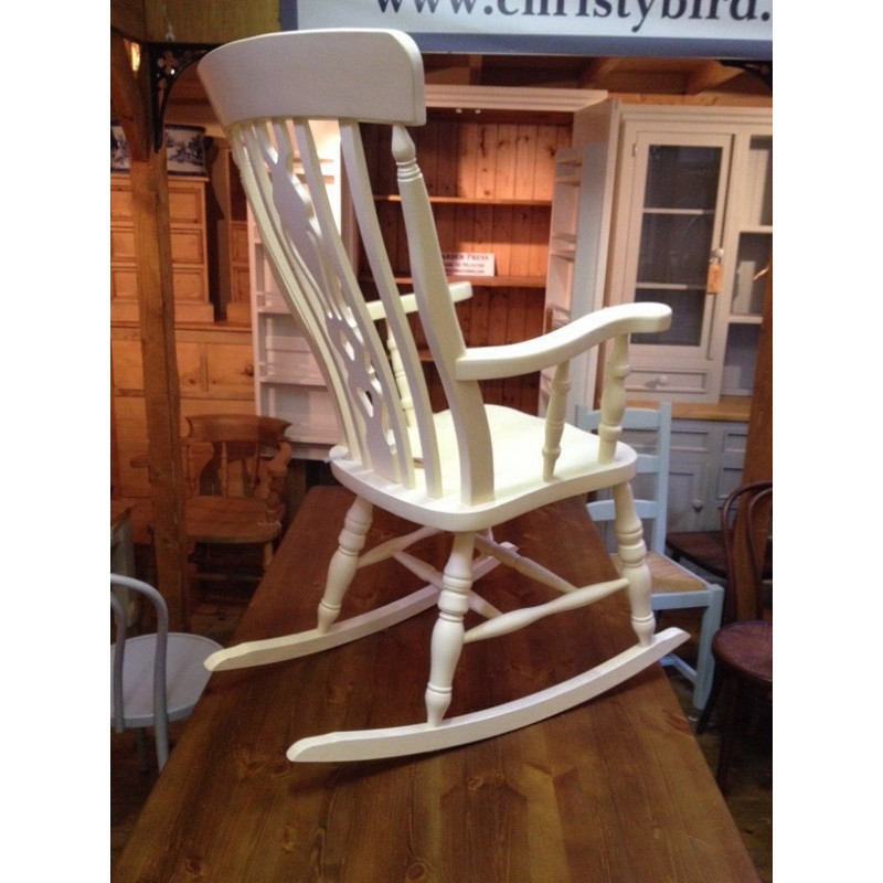 unfinished wood rocking chair farmhouse table chairs fiddle back