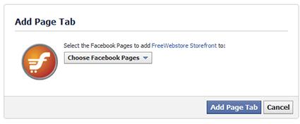 FreeWebstore Facebook Tab App