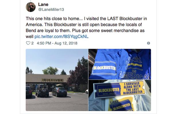 Fan Tweet About Last Blockbuster