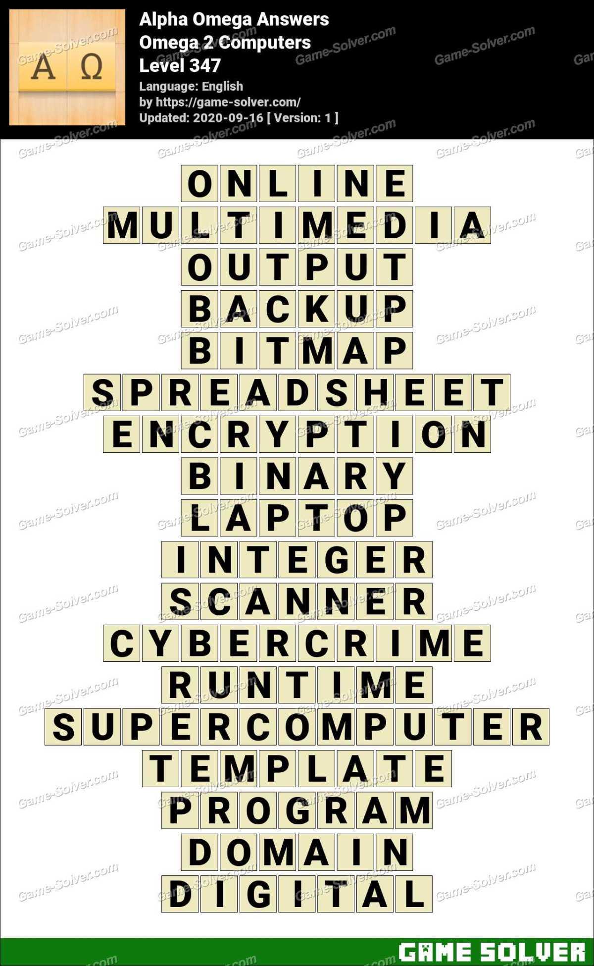 Alpha Omega Omega 2 Computers