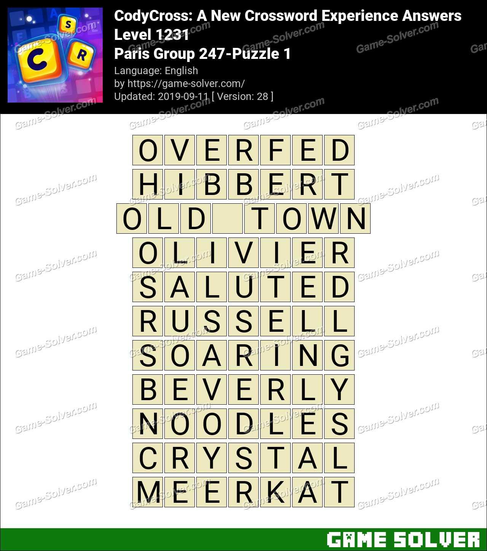 CodyCross Paris Group 247-Puzzle 1 Answers