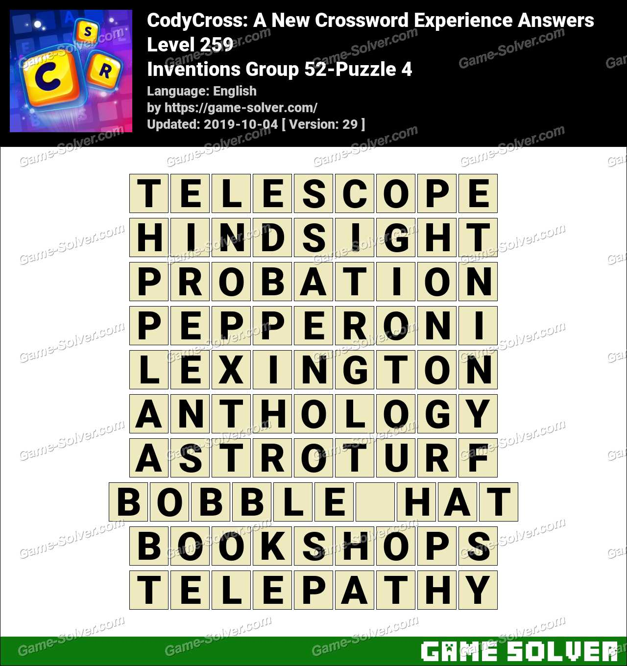 CodyCross Inventions Group 52-Puzzle 4 Answers