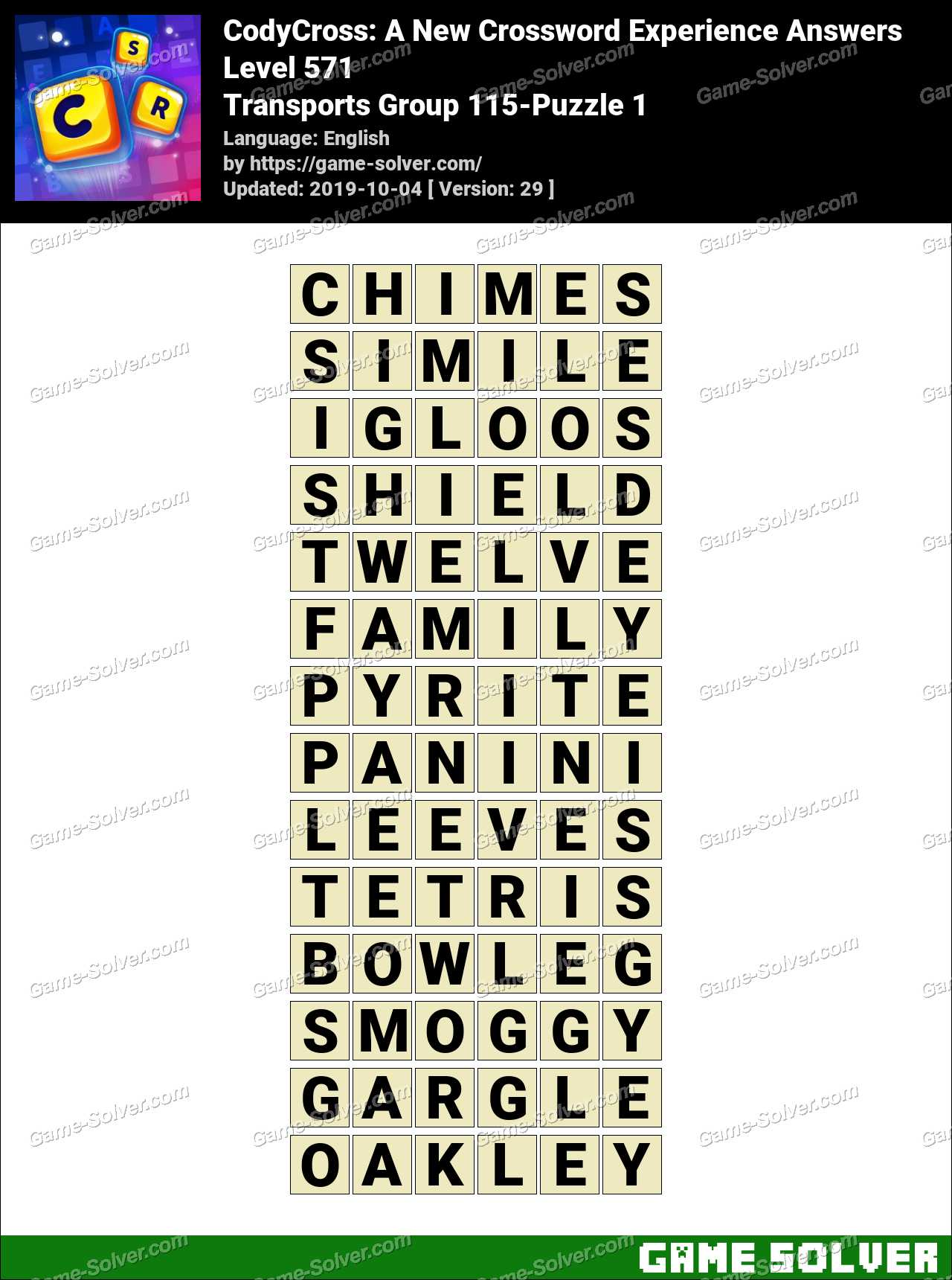 CodyCross Transports Group 115-Puzzle 1 Answers