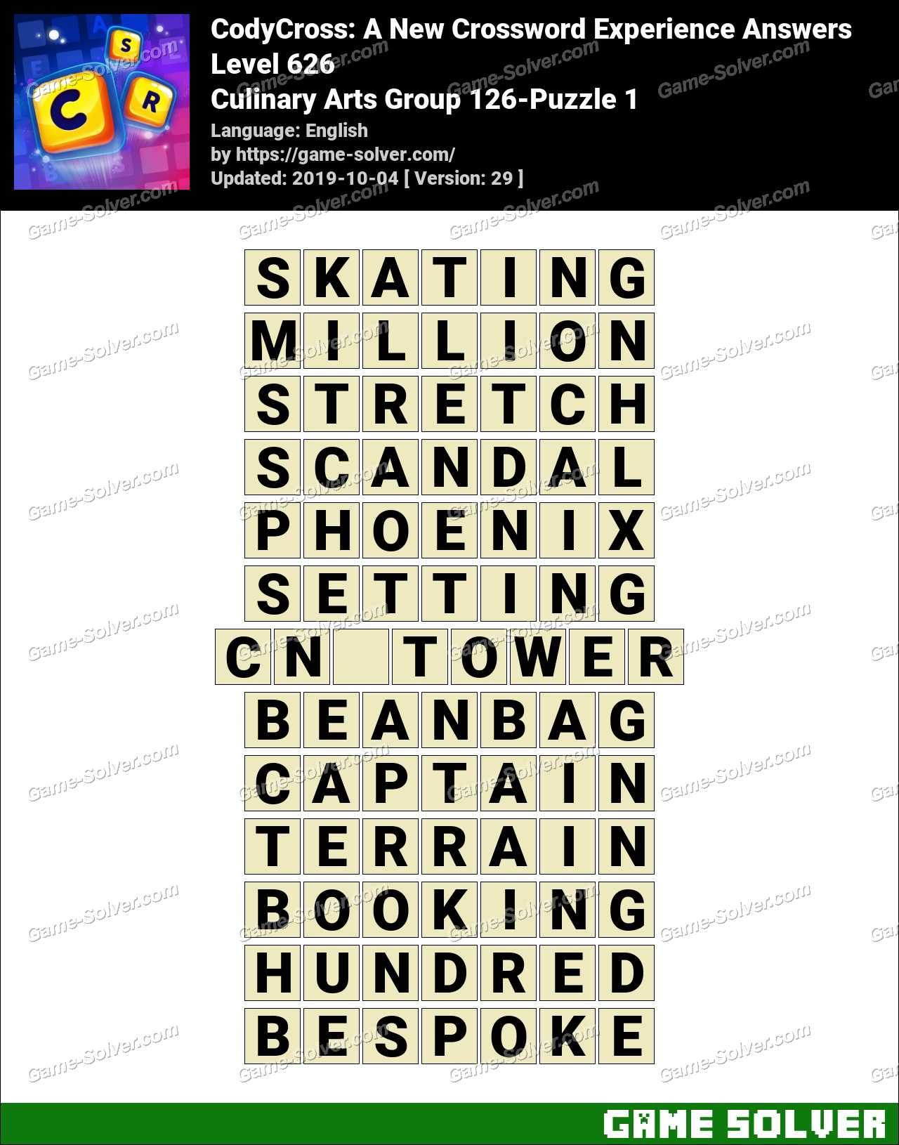 CodyCross Culinary Arts Group 126-Puzzle 1 Answers