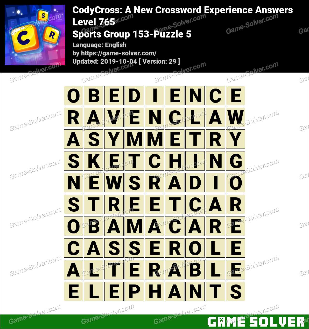 CodyCross Sports Group 153-Puzzle 5 Answers