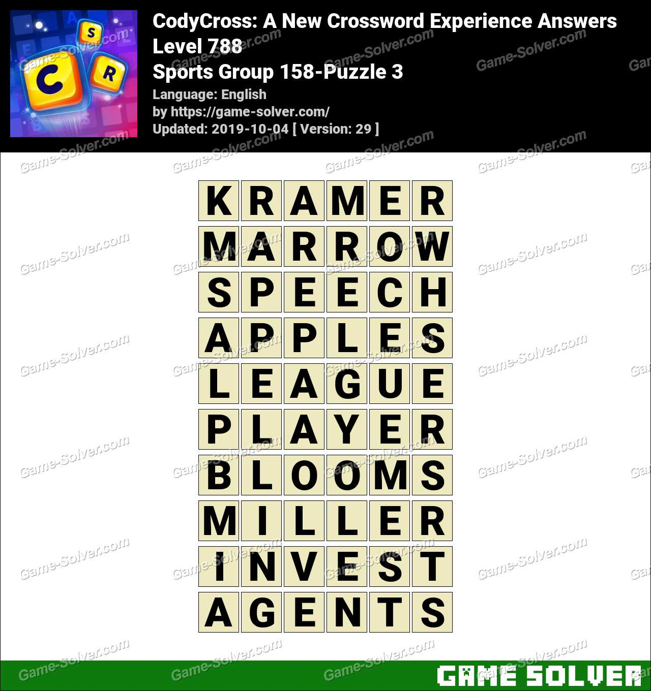 CodyCross Sports Group 158-Puzzle 3 Answers