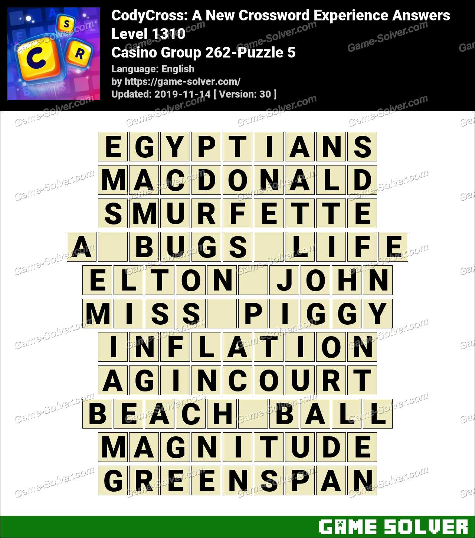 CodyCross Casino Group 262-Puzzle 5 Answers