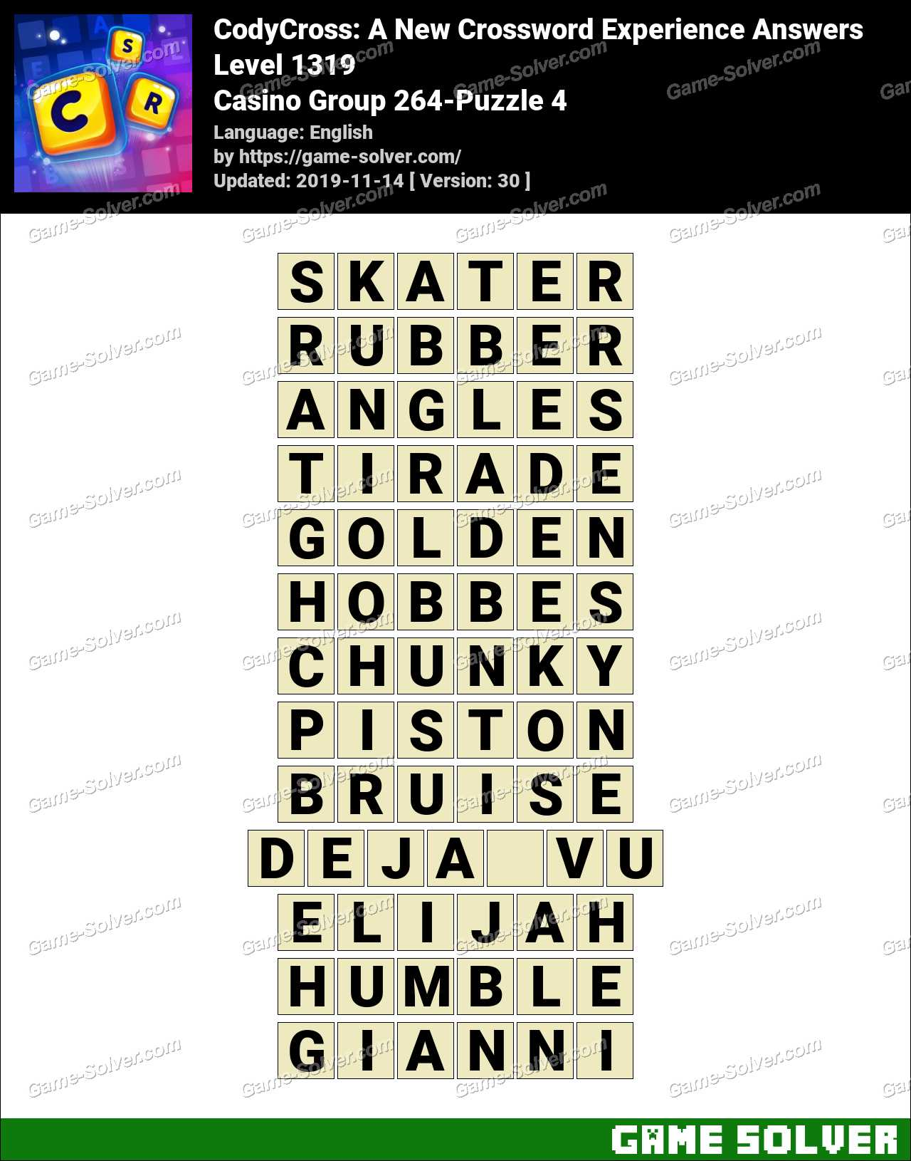 CodyCross Casino Group 264-Puzzle 4 Answers