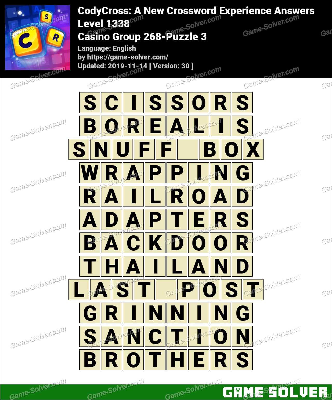 CodyCross Casino Group 268-Puzzle 3 Answers