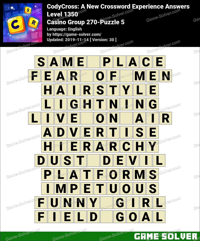 CodyCross Casino Group 270-Puzzle 5 Answers