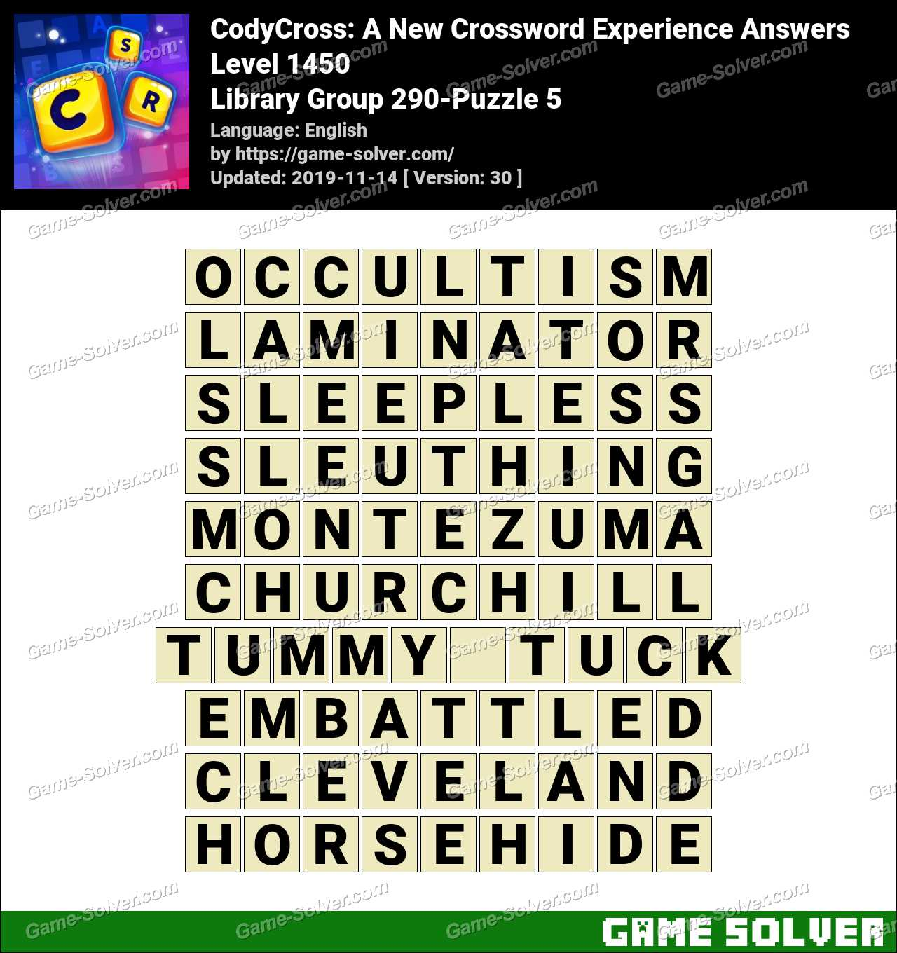 CodyCross Library Group 290-Puzzle 5 Answers