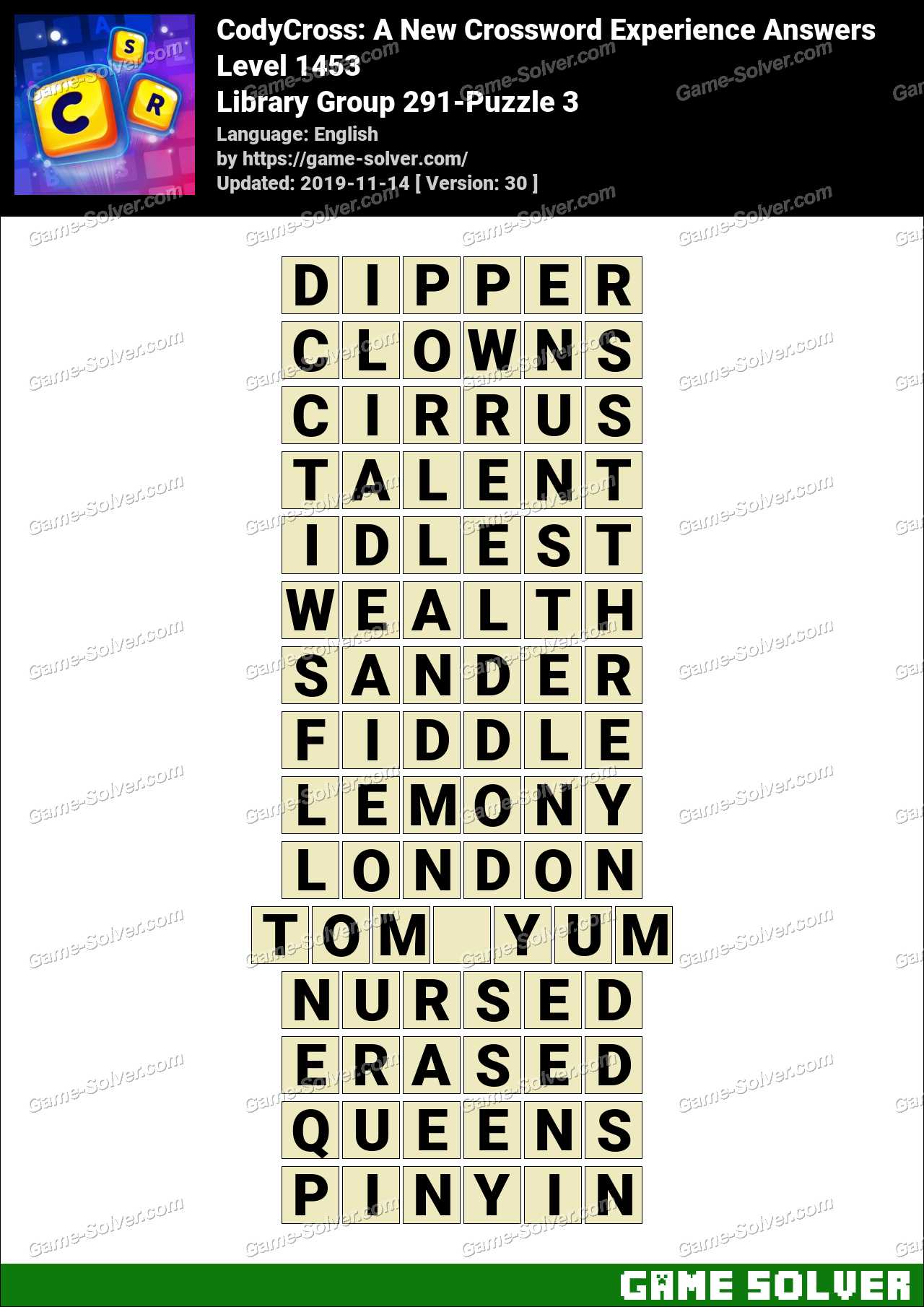 CodyCross Library Group 291-Puzzle 3 Answers