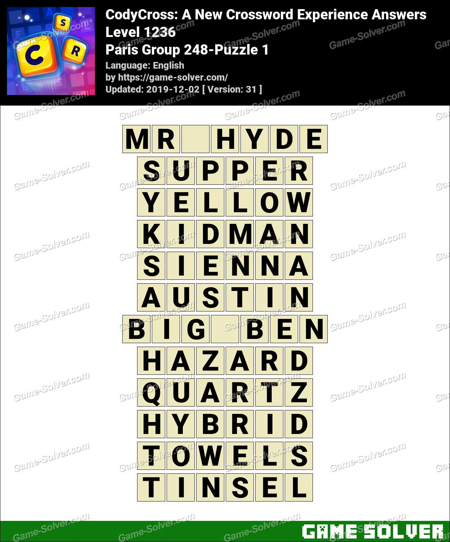 CodyCross Paris Group 248-Puzzle 1 Answers