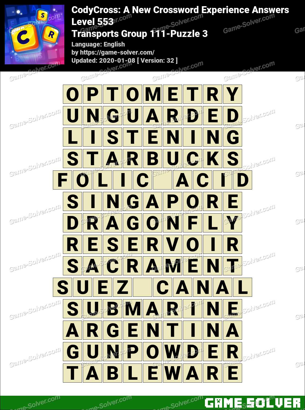 CodyCross Transports Group 111-Puzzle 3 Answers
